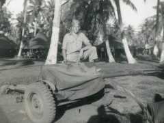 Stationed at Guam, 1945