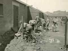 Japanese Prisoners of War, working at the US Marine barracks. in Tientsin, China - 1946