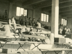 Living in the bleachers at the Race Track, June 1946